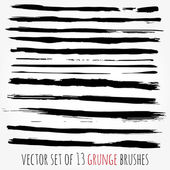 Big set of vector brushes. Abstract hand drawn ink strokes. — Stock Vector