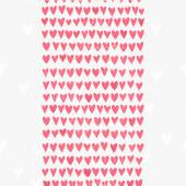 Romantic seamless pattern with small hand drawn hearts — Stock Vector