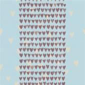 Padrão sem emenda romântico com pequena mão desenhada corações — Vetor de Stock