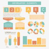 Design elements for business presentation — Stock Vector