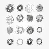Set of vector doodles. Sketchy frames. — Stock Vector