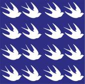 Vintage seamless pattern with swallows. — Stock Vector