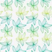 Beautiful gradient seamless pattern with lily. — Stock Vector