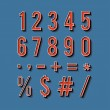 Vintage typography. Set of retro numbers and symbols. — Stock Vector #51970967