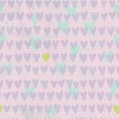 Romantický vzor bezešvé s malou rukou nakreslena srdce. — Stock vektor
