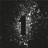 Grunge  symbol. Spray paint number 1. — Stock Vector