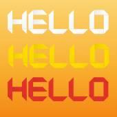 "Origami word ""Hello"". — Stock Vector"