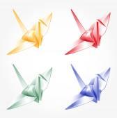 Origami cranes — Stock Vector
