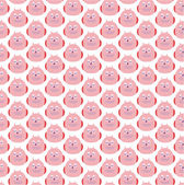 Fun seamless pattern with owls. — Vettoriale Stock