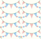 Party garlands seamless pattern. — Stock Vector
