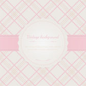 Vintage background with ribbon and sample text. — Stock Vector