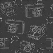 Photography seamless pattern — Vettoriale Stock