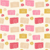 Photography seamless pattern. — Vector de stock