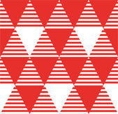Modern seamless pattern with triangles — Stockvektor