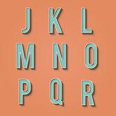 Vintage alphabet. Retro type font. 3d letters. — Stock Vector