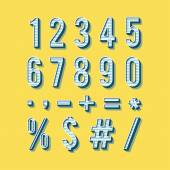 Alphabet numbers in vintage style. — Stock Vector