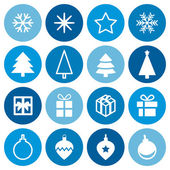 Christmas decorative symbols set. — Vector de stock