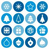 Christmas decorative symbols set. — Vettoriale Stock