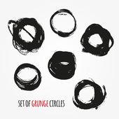 Set of  round grunge frames — Stock Vector