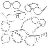 Set of sunglasses. — Stock Vector