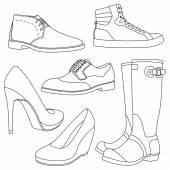 Ensemble de chaussures — Vecteur