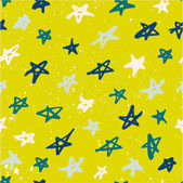 Seamless pattern with hand drawn stars — Stock Vector