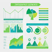 Eco infographic elements set. — Vector de stock
