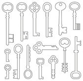 Set of vintage keys — Vecteur