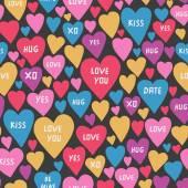 Romantik Kalp desen — Stok Vektör
