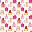 Pattern with nail polish bottles — Stock Vector #58804669