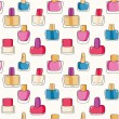 Pattern with nail polish bottles — Stock Vector #58804677