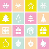 Christmas decorative  set. — Vector de stock
