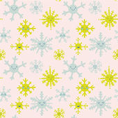 Cute snowflakes pattern — Stock Vector