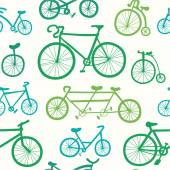 Pattern with   bicycles. — Stockvektor