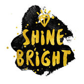 Shine Bright typography poster — Stock Photo