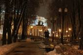 Minsk in the winter night — Stock Photo