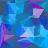 Abstract bright blue and purple colored vector triangular geometric background with glaring lights  for use in design for card, invitation, poster, banner, placard or billboard cover — Stock Vector