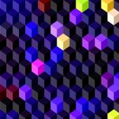 Abstract vector 3D cubes geometric background — Vetorial Stock