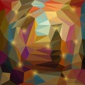 Abstract vector triangular geometric background with glaring lights — Stockvektor