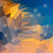 Abstract vector triangular geometric background with glaring lights — Stockvector