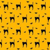 Halloween vector pattern background — Stock Vector
