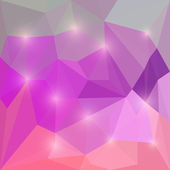 Abstract vector triangular geometric background with glaring lights — ストックベクタ