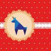 Niebieskie tło wektor Koza, symbolu nowego roku kozła — Wektor stockowy