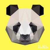 Polygonal panda background — Stock Vector