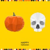 Halloween bright colored vector polygonal background — Stock Vector