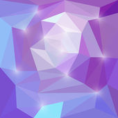 Abstract bright purple colored vector triangular geometric background with glaring lights — Vettoriale Stock