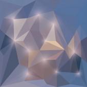 Abstrakt vektor trekantiga geometrisk bakgrund med påfallande ljus — Stockvektor