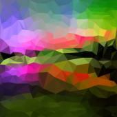 Mélange d'éclairage abstrait géométrique — Vecteur