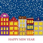 新しい年のベクトルの背景 — ストックベクタ