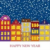 Nya året vektor bakgrund — Stockvektor